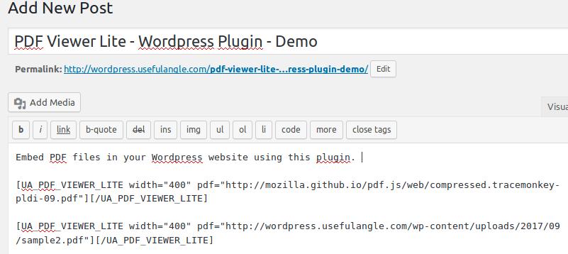 PDF Viewer - Embed PDF Documents - Free Wordpress Plugin