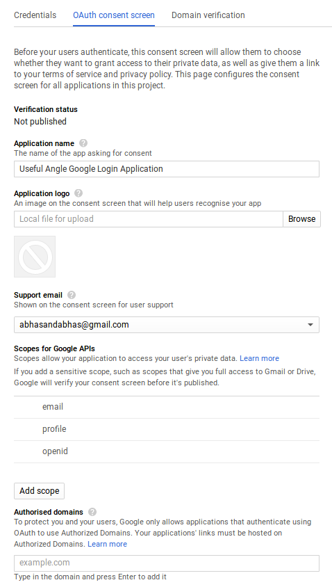 Login with GoogleAPI using PHP